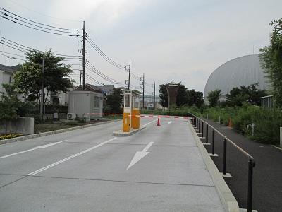 科学館駐車場ゲート