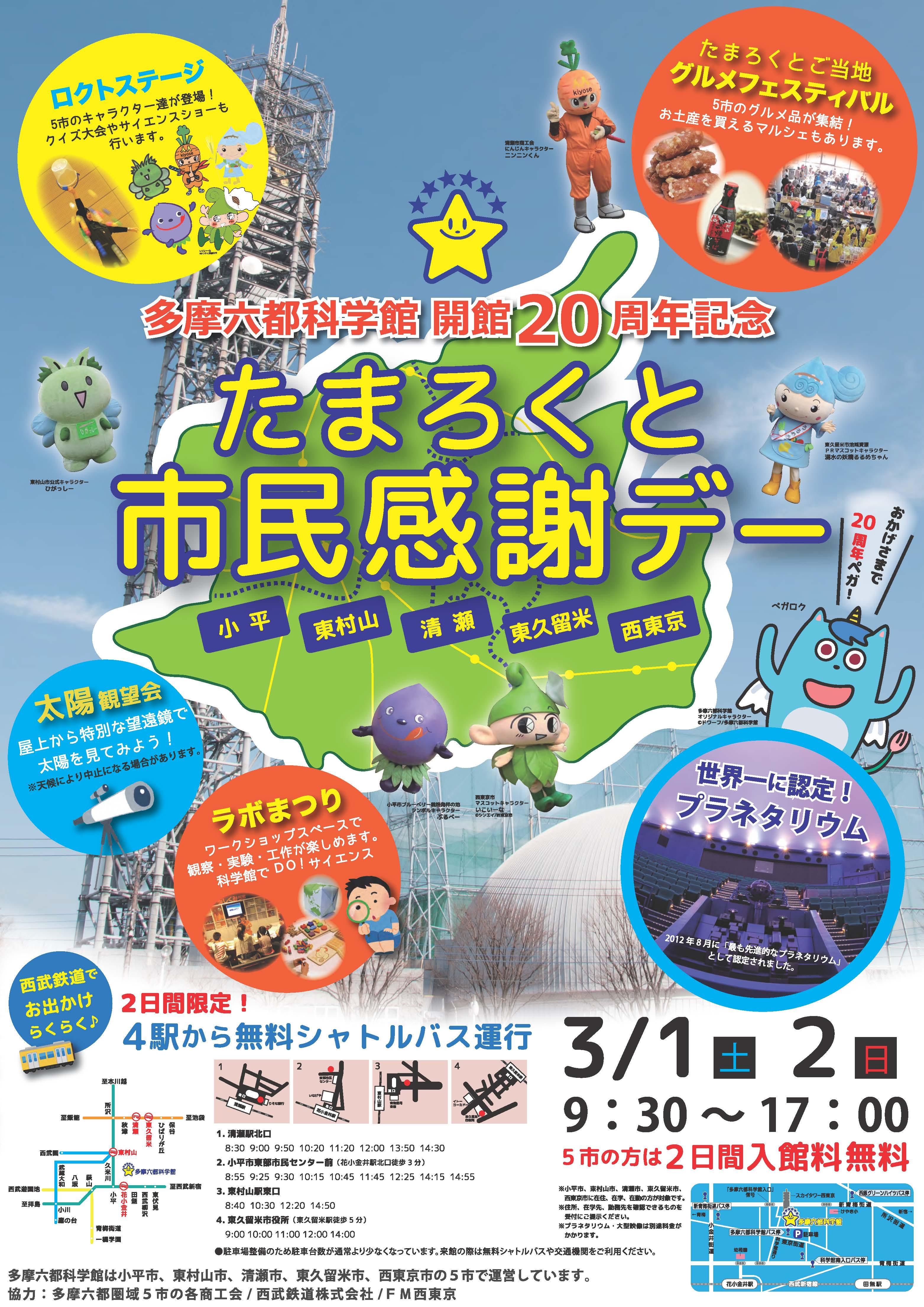 開館20周年記念ポスター